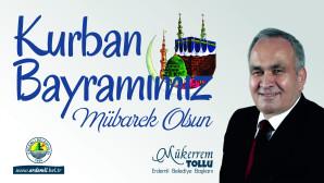 Erdemli Belediye Başkanı Mükkerrem Tollu'dan Kurban Bayramı Mesajı