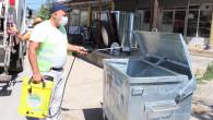 Çöp Konteyneleri Dezenfekte Ediliyor