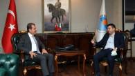 Seçer, Türkiye Cimnastik Federasyonu Başkanı Suat Çelen'i Ağırladı