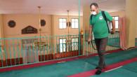 Toroslar'da İbadethaneler Dezenfekte Ediliyor