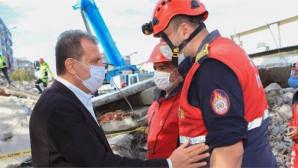 Mersin Büyükşehir İtfaiyesi, Arama Kurtarma Çalışmalarını Sürdürüyor