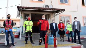 Mersin Büyükşehir Personeline Yangın Tatbikatı