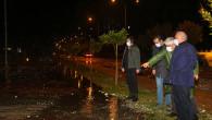 Erdemli 'de Sağanak Yağış Etkili Oldu