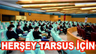 TARSUS BELEDİYE BAŞKANI HALUK BOZDOĞAN PERSONELLERLE TOPLANTI YAPTI