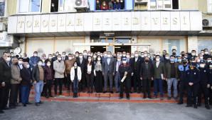 Belediye Personeli, Başkan Yılmaz'ı Alkışlarla Karşıladı