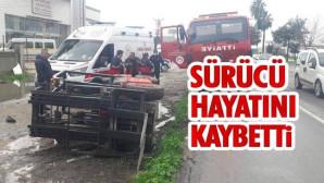 Mersin'de Meydana Gelen Forklift Kazasında Sürücü Hayatını Kaybetti