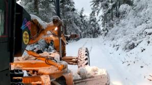 Büyükşehir'den Yüksek Kesimlerde Karla Mücadele Çalışması