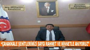 """Mehmet Bülent GÖZENER ; """"Çanakkale Şehitlerimizi Saygı Minnet Ve Rahmetle Anıyoruz"""""""
