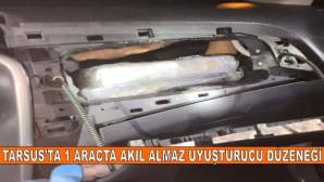 Tarsus'ta 1 Araçta Akıl almaz Uyuşturucu Düzeneği