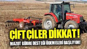 Bakan Çiftçi İçin Müjdeyi Verdi! Mazot Ve Gübre Desteği Ödemeleri Yarın Başlıyor
