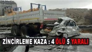 zincirleme kaza: 4 ölü, 5 yaralı