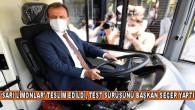 """""""SARI LİMONLAR"""" TESLİM EDİLDİ, TEST SÜRÜŞÜNÜ BAŞKAN SEÇER YAPTI"""