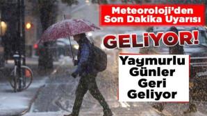 Meteoroloji'den Tarsus İçin Kuvvetli Yağış Uyarısı