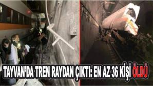 Tayvan'da tren raydan çıktı: En az 36 kişi hayatını kaybetti