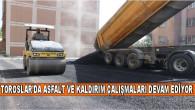 TOROSLAR'DA ASFALT VE KALDIRIM ÇALIŞMALARI DEVAM EDİYOR