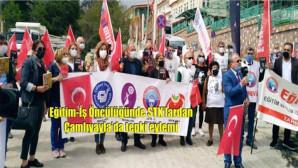 Eğitim-İş Öncülüğünde STK'lardan Çamlıyayla'da tepki eylemi