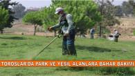 TOROSLAR'DAN PARK VE YEŞİL ALANLARA BAHAR BAKIMI