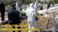 Tarsus'ta 1 Yılda Covid19 Nedeniyle Ölenlerin Sayısı 711 Oldu