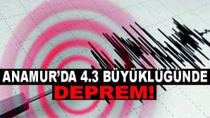 Anamur açıklarında 4,3 büyüklüğünde deprem