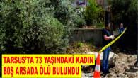 Tarsus'ta 73 yaşındaki kadın inşaat alanında ölü bulundu.