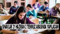 Liselerde, 2020-2021 eğitim ve öğretim yılının ikinci dönemine ilişkin her dersten tek sınav yapılacak