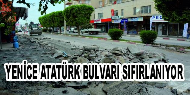 Yenice Atatürk Bulvarı, Büyükşehir Tarafından Yenileniyor