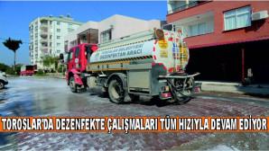 TOROSLAR'DA DEZENFEKTE ÇALIŞMALARI TÜM HIZIYLA DEVAM EDİYOR