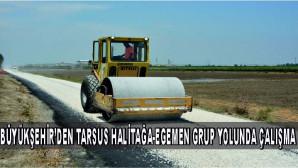 BÜYÜKŞEHİR'DEN TARSUS HALİTAĞA-EGEMEN GRUP YOLUNDA ÇALIŞMA