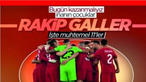 Türkiye Galler maçı muhtemel 11 leri
