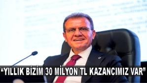 """BAŞKAN SEÇER: """"YILLIK BİZİM 30 MİLYON TL KAZANCIMIZ VAR"""""""