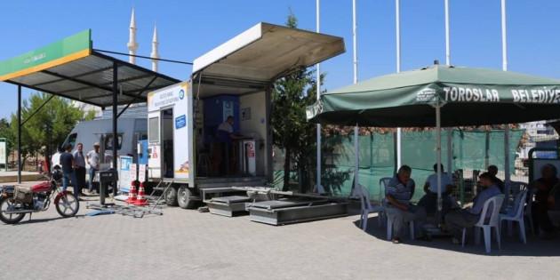 Toroslar Belediyesi, Gezici Araç Muayene İstasyonunu Vatandaşın Ayağına Getirdi