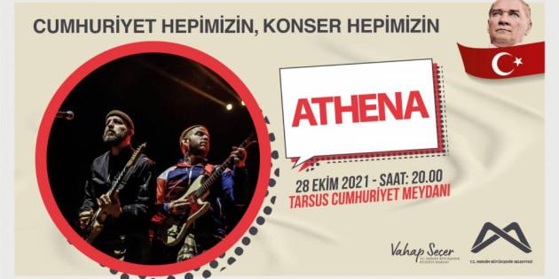 Mersin Büyükşehir'in 29 Ekim Konserleri: Athena, Mor Ve Ötesi İle Necati Ve Saykolar